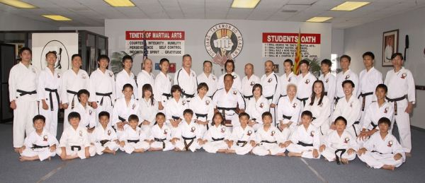 Duc dang taekwondo black belt students of the hwa rang kwan martial arts academy